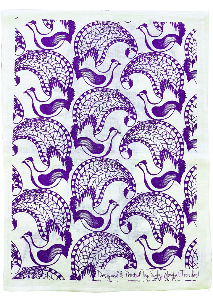 lyrebirds-teatowel_purple