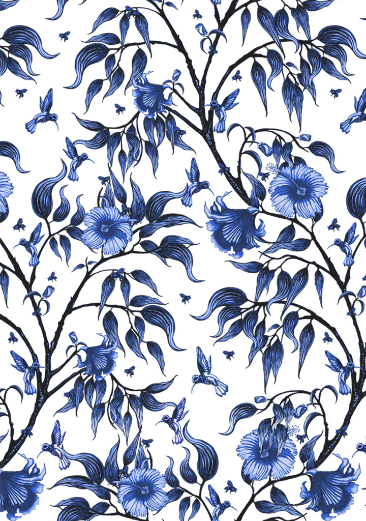 Our Wallpaper And Fabric Design Is Printed In Australia Features The Beautful Hibiscus Flower With