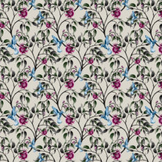 upholstery fabric - birds in the flowers 1
