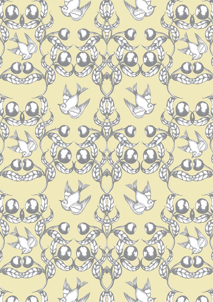 birdsin the gumnuts – cream