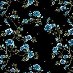 wallpaper - bloomin heaven - black