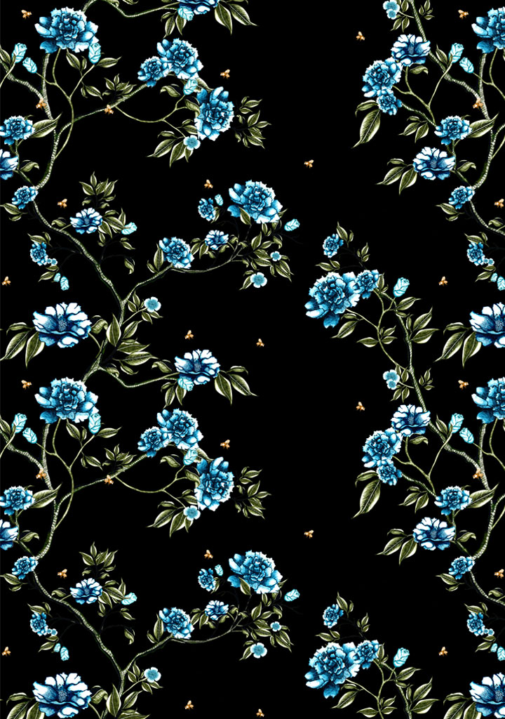 bloomin heaven – blue – black