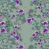 wallpaper - bloomin heaven - purple - green