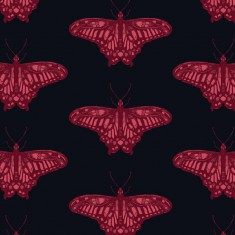 Our wallpaper is designed and printed in Australia and features a large scale butterfly in a half drop pattern.