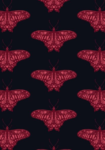 textile design - butterfly gem, available as a wallpaper or fabric printed in australia.