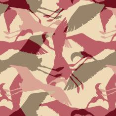 wallpaper - flamingo - raspberry