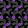 wallpaper- wild hibiscus - purple noir