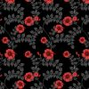 wallpaper- wild hibiscus- red noir