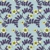 wallpaper - upholstery fabric - wild hibiscus - lime - duckegg blue
