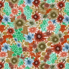 upholstery fabric - in bloom - orange