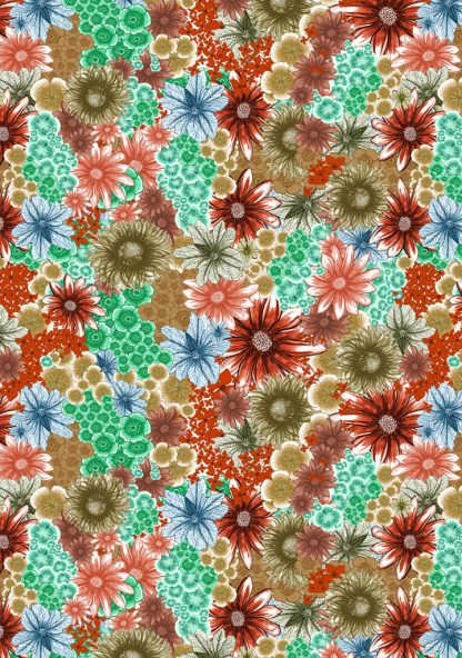 In bloom is a pattern design inspired by spring flowers.