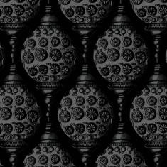 wallpaper - lantern - black