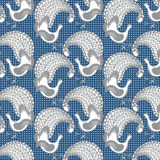 Our wallpaper is designed and printed in Australia and features the Lyrebird known for its ability to mimic sounds.