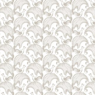 Our More Lyrebird design is available as a furnishing fabric and linen fabric. Designed and printed in Aus