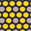 upholstery fabric - african spot - yellow - midnight