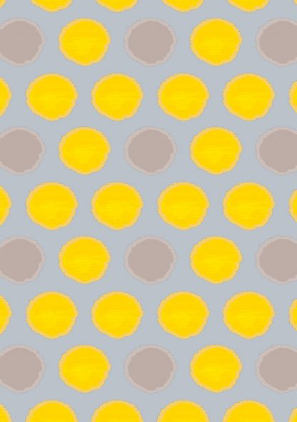 upholstery fabric - african spot - yellow - softgrey