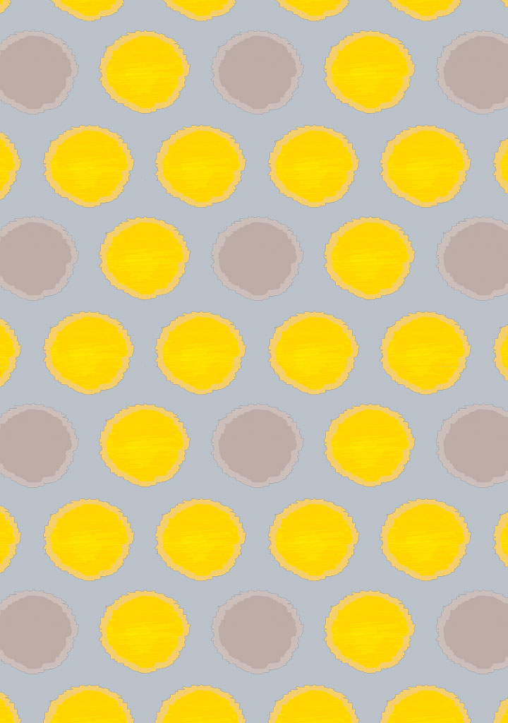 african spot – fabric – yellow/softgrey