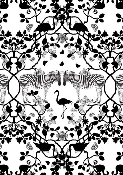African inspired pattern for wallpaper and upholstery fabric