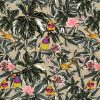 Suitable for wallpaper and fabric, our junglebirds design features Gauldian finches and silver eye sitting amongst the foliage.