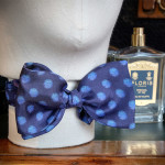 Silk bowtie featuring handpainted motifs inspired by algea from the Royal Botanic Gardens Victoria Algea collection.