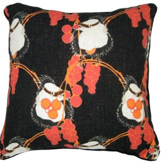 linen cushion cover with baby kookaburra_linen_designed designed and printed in Melbourne