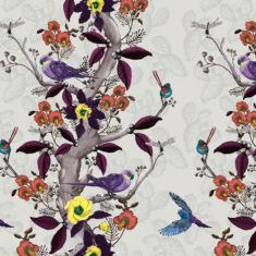 Our Desert Bloom design is available as a wallpaper, furnishing fabric and linen. Designed and printed in Australia.