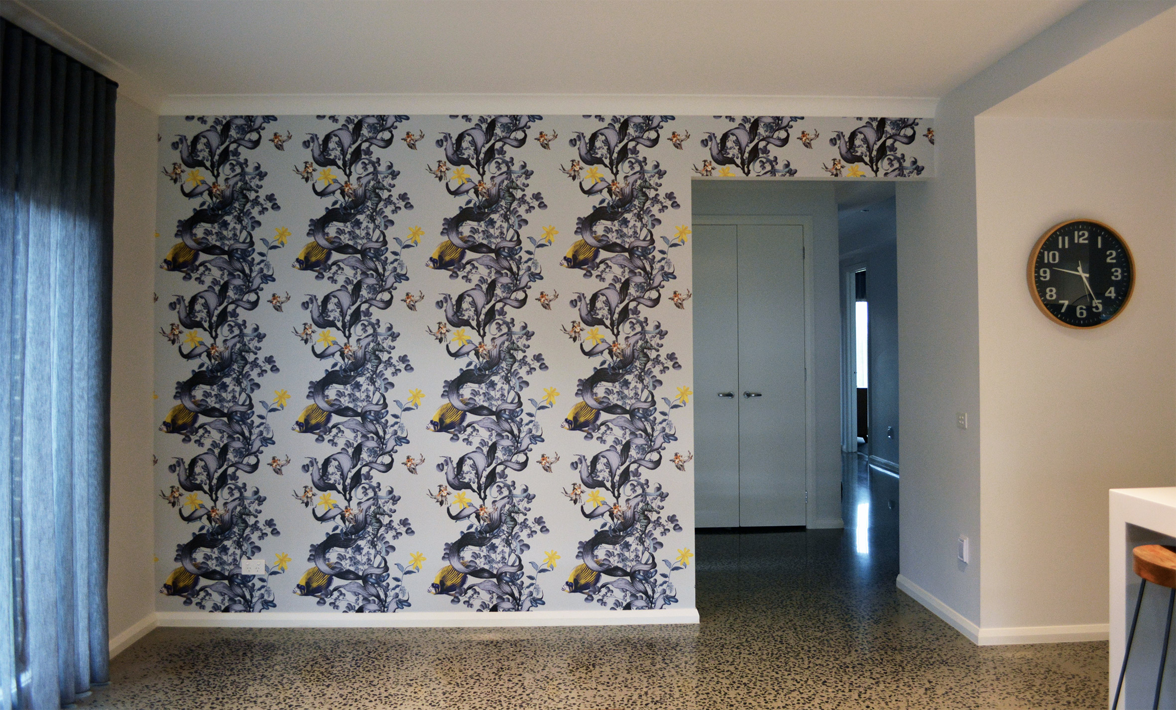 wallpaper underwater wonderland install by Prestige Wallpapering