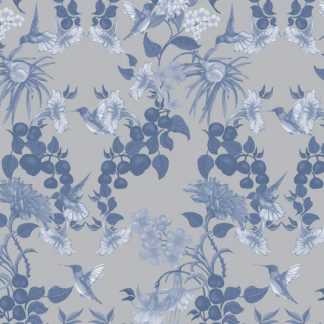 Our Hummingbird demask design is available as a wallpaper, furnishing fabric and linen. Designed and printed in Australia.