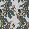 Our Kingfisher design is available as a wallpaper, furnishing fabric and linen. Designed and printed in Australia.