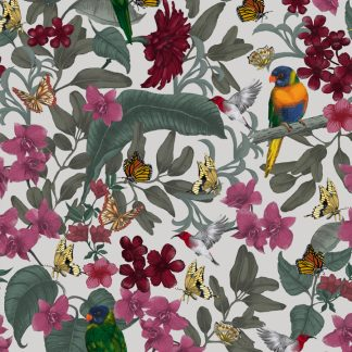 Lush design is available as a wallpaper, interior fabric velvet and linen and my commercial fabric range.