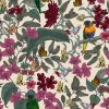 Lush design is available as a wallpaper, interior fabric velvet and linen.