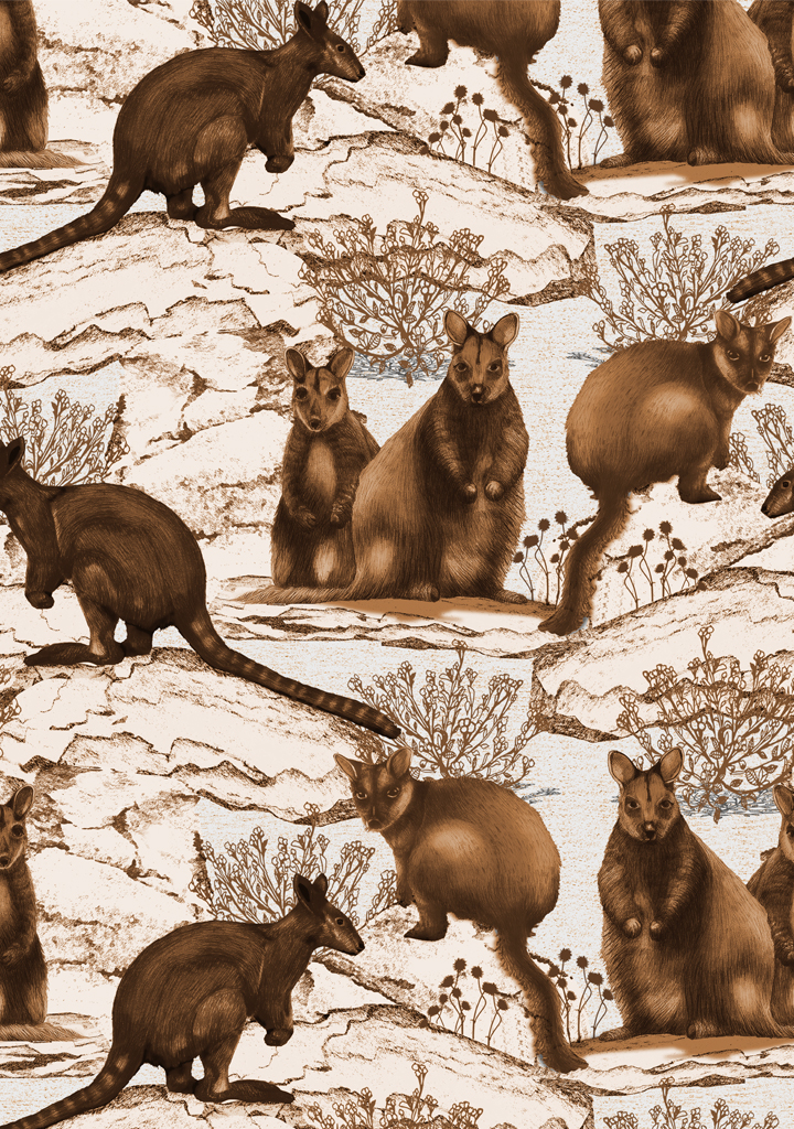 wallaby-toile_tan_white-ground