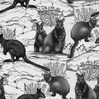 Wallaby Toile as a upholstery fabric, linen or wallpaper.