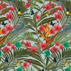 This tropicana design is available as a wallpaper, interior fabric velvet and linen and my commercial fabric range