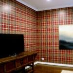 wallpaper - plaid - custom design