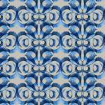 Handpainted pattern design inpired by algea from the Royal Botanic Gardens Victoria collection.